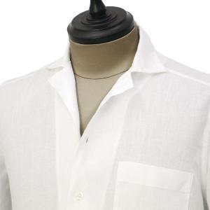 Bagutta【バグッタ】オープンカラーシャツ MAUI_GM CN0045 001 リネン ホワイト|cinqueunaltro|02