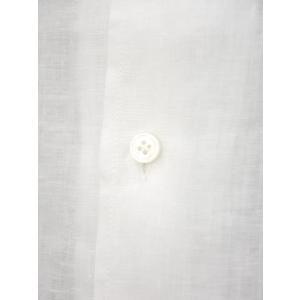Bagutta【バグッタ】オープンカラーシャツ MAUI_GM CN0045 001 リネン ホワイト|cinqueunaltro|04