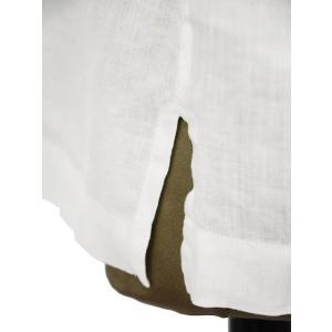 Bagutta【バグッタ】オープンカラーシャツ MAUI_GM CN0045 001 リネン ホワイト|cinqueunaltro|05