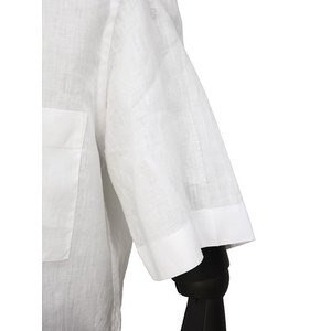 Bagutta【バグッタ】オープンカラーシャツ MAUI_GM CN0045 001 リネン ホワイト|cinqueunaltro|06