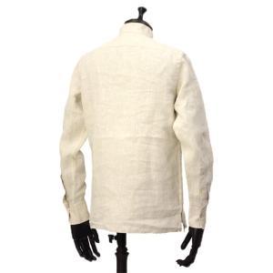 Bagutta【バグッタ】バンドカラープルオーバーシャツ PATMOS_GL 09098 011 リネン グレージュ cinqueunaltro 03