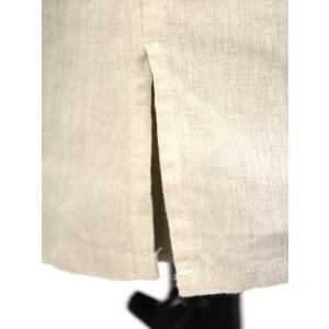 Bagutta【バグッタ】バンドカラープルオーバーシャツ PATMOS_GL 09098 011 リネン グレージュ cinqueunaltro 05
