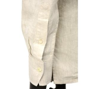 Bagutta【バグッタ】バンドカラープルオーバーシャツ PATMOS_GL 09098 011 リネン グレージュ cinqueunaltro 06