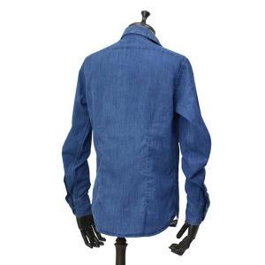 Bagutta【バグッタ】オープンカラーシャツ JOHNNY_GL 08266 050 デニム ウォッシュドインディゴ cinqueunaltro 03