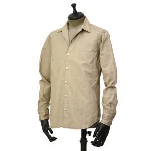 Bagutta【バグッタ】オープンカラーシャツ JOHNNY_GL 09468 070 コットン ベージュ|cinqueunaltro