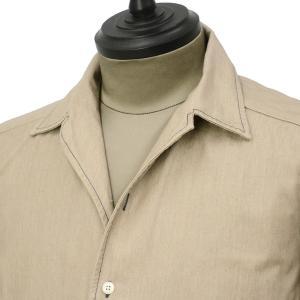 Bagutta【バグッタ】オープンカラーシャツ JOHNNY_GL 09468 070 コットン ベージュ|cinqueunaltro|02