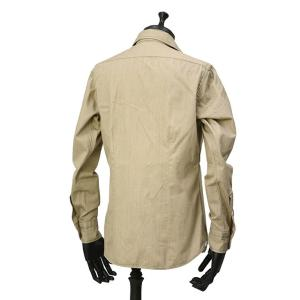 Bagutta【バグッタ】オープンカラーシャツ JOHNNY_GL 09468 070 コットン ベージュ|cinqueunaltro|03