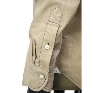 Bagutta【バグッタ】オープンカラーシャツ JOHNNY_GL 09468 070 コットン ベージュ|cinqueunaltro|05