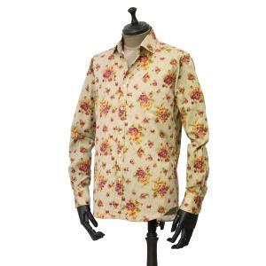 Bagutta【バグッタ】カジュアルシャツ BERLINO_GBLR 09697 870 コットン フラワー ベージュ レッド|cinqueunaltro