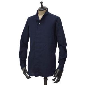Bagutta【バグッタ】ハイネックシャツ NECK_GBL 08480 051 コットン ネイビー|cinqueunaltro
