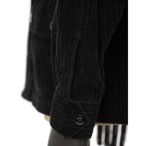 Bagutta【バグッタ】シャツブルゾン JUNGLE_GL 09464 290 コットン コーデュロイ ブラック|cinqueunaltro|05