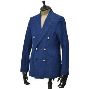 Bagutta【バグッタ】シャツジャケット GIAN_GLJ 08454 053 コットン デニム シャドーストライプ ウォッシュドインディゴ|cinqueunaltro