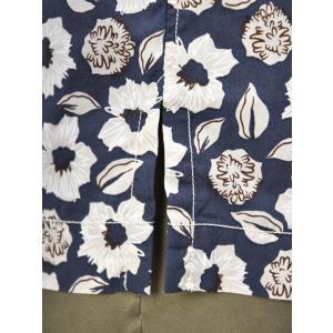 Bagutta【バグッタ】オープンカラーシャツ MAUI_GM 10070 651 コットン フラワー ネイビー ベージュ|cinqueunaltro|06