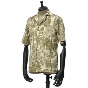 Bagutta【バグッタ】オープンカラーシャツ MAUI GMW 11152 610 コットン ボタニカル|cinqueunaltro