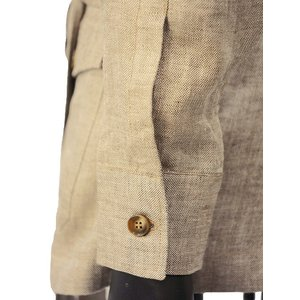 Massimo d'Augusto【マッシモダウグスト】サファリジャケット SAHARIANA JM 12 リネン ベージュ|cinqueunaltro|04