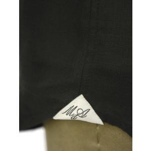 Massimo d'Augusto【マッシモダウグスト】レースアップカプリシャツ 1890 POLO STRING 18 リネン ブラック|cinqueunaltro|05