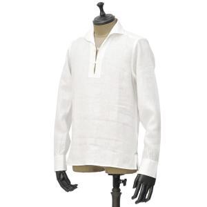 Massimo d'Augusto【マッシモダウグスト】カプリシャツ 2890 ALAMARI 1 ホワイト|cinqueunaltro