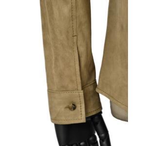 DESA1972【デサ/デーザ1972】スエードレザーシャツ K12295 SE3002ベージュ|cinqueunaltro|05