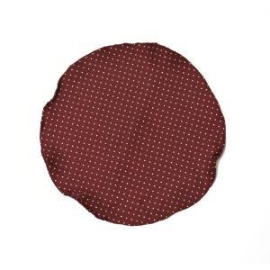 DOLCEPUNTA【ドルチェプンタ】  ポケットチーフ 31×31 HANK A1723 7 シルク ドット ホワイト ボルドー|cinqueunaltro