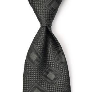 DOLCEPUNTA【ドルチェプンタ】シルクタイ TIE-P2062 7 セッテピエゲ シルク 小紋 ブラック|cinqueunaltro