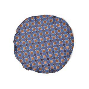 DOLCEPUNTA【ドルチェプンタ】ポケットチーフ 31×31 FAZZOLETTO-P2022 5 シルク 小紋 フラワー ブルー|cinqueunaltro