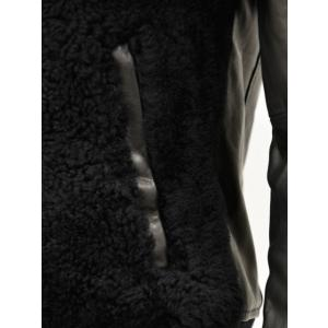 EMMETI【エンメティ】ムートンレザーボンバージャケット ELIOT 190/1 NERO ムートン ナッパレザー ブラック|cinqueunaltro|07