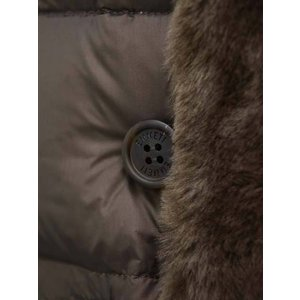 EMMETI【エンメティ】N-3B型ダウンコート GREY ナイロン ムートン ナッパレザー ラクーン ブラウン|cinqueunaltro|08