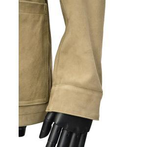 EMMETI【エンメティ】レザーサファリジャケット  ULRIC C.S.  CAMOSCIO SFODE 4320 KAKY ゴートスキンスエード  0.5mm カーキ|cinqueunaltro|06