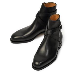 F.LLI Giacometti【フラテッリ ジャコメッティ】ジョッパーブーツ FG337 ボックスカーフ シャトーブリアン ブラック|cinqueunaltro