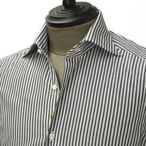 Giannetto【ジャンネット】ドレスシャツ SLIM FIT 7B27030 L66 003 blue label コットン ストライプ グレー cinqueunaltro