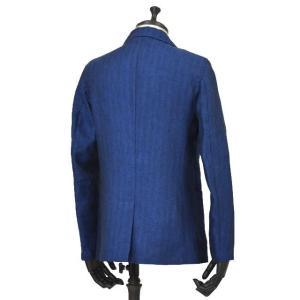 Giannetto【ジャンネット】シャツジャケット 8G845 03 リネン ヘリンボーン ブルー|cinqueunaltro|03