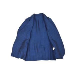 Giannetto【ジャンネット】シャツジャケット 8G845 03 リネン ヘリンボーン ブルー|cinqueunaltro|04