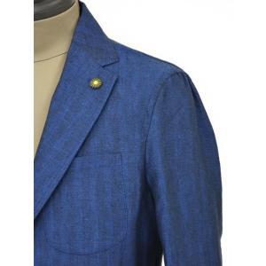 Giannetto【ジャンネット】シャツジャケット 8G845 03 リネン ヘリンボーン ブルー|cinqueunaltro|05