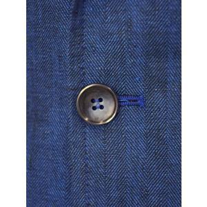 Giannetto【ジャンネット】シャツジャケット 8G845 03 リネン ヘリンボーン ブルー|cinqueunaltro|06
