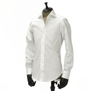 Giannetto【ジャンネット】ドレスシャツ SLIM FIT 8B10330L66 001 blue label コットン ポプリン ホワイト|cinqueunaltro|02