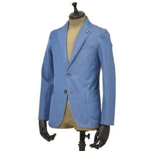Giannetto【ジャンネット】シャツジャケット 8G350JK C01 コットン シャンブレー インディゴ|cinqueunaltro