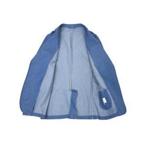 Giannetto【ジャンネット】シャツジャケット 8G350JK C01 コットン シャンブレー インディゴ|cinqueunaltro|03