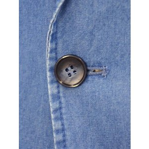 Giannetto【ジャンネット】シャツジャケット 8G350JK C01 コットン シャンブレー インディゴ|cinqueunaltro|05