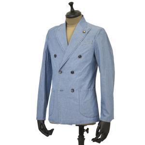 Giannetto【ジャンネット】シャツジャケット 8G354JKW C03 コットン シャンブレー ライトインディゴ|cinqueunaltro