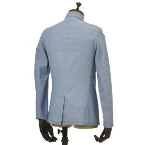 Giannetto【ジャンネット】シャツジャケット 8G354JKW C03 コットン シャンブレー ライトインディゴ|cinqueunaltro|02