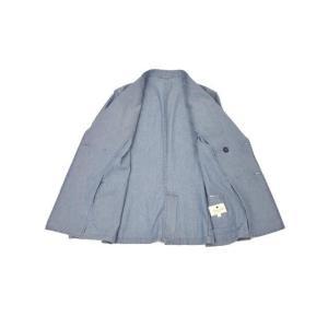 Giannetto【ジャンネット】シャツジャケット 8G354JKW C03 コットン シャンブレー ライトインディゴ|cinqueunaltro|03