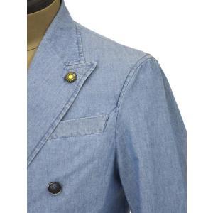 Giannetto【ジャンネット】シャツジャケット 8G354JKW C03 コットン シャンブレー ライトインディゴ|cinqueunaltro|04