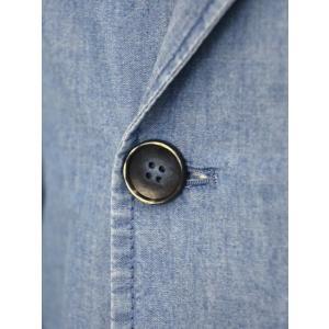 Giannetto【ジャンネット】シャツジャケット 8G354JKW C03 コットン シャンブレー ライトインディゴ|cinqueunaltro|05