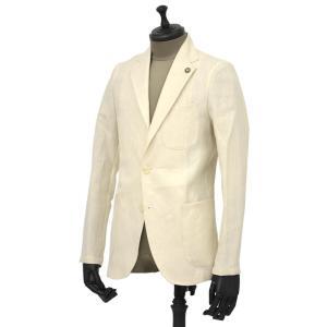 Giannetto【ジャンネット】シャツジャケット 8G844 05 リネン ヘリンボーン オフベージュ|cinqueunaltro
