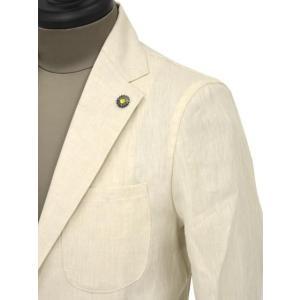 Giannetto【ジャンネット】シャツジャケット 8G844 05 リネン ヘリンボーン オフベージュ|cinqueunaltro|05