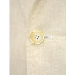 Giannetto【ジャンネット】シャツジャケット 8G844 05 リネン ヘリンボーン オフベージュ|cinqueunaltro|06