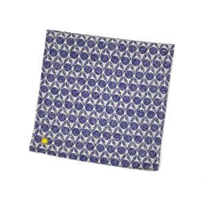Giannetto【ジャンネット】ポケットチーフ 8G924PC 001 コットン ジオメトリック ブルー cinqueunaltro