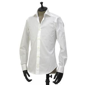 Giannetto【ジャンネット】ドレスシャツ SLIM FIT AB1130 L66 001 BLUE LABEL コットン ツイル ホワイト cinqueunaltro 02