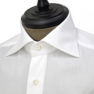 Giannetto【ジャンネット】ドレスシャツ SLIM FIT AB1130 L66 001 BLUE LABEL コットン ツイル ホワイト cinqueunaltro 03