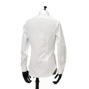 Giannetto【ジャンネット】ドレスシャツ SLIM FIT AB1130 L66 001 BLUE LABEL コットン ツイル ホワイト cinqueunaltro 04